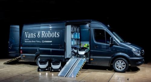 Mercedes-Benz Vans investeste in viitor. Robotii ne vor livra coletele acasa
